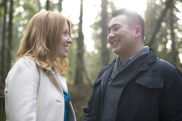 Engagement portraits captured of Tim and Katie in Bellingham