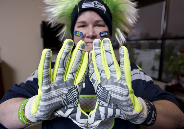 Whatcom County Seahawks fan Toni Taft