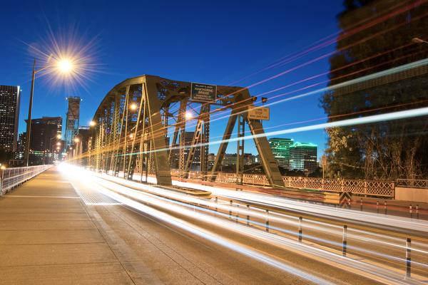 Portland Long Exposure: Hawthorne Bridge
