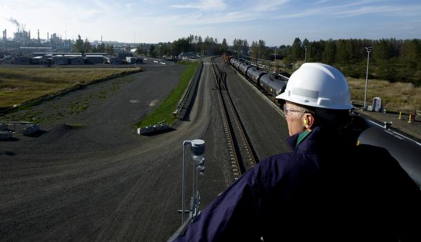 Rail loop at BP Cherry Point