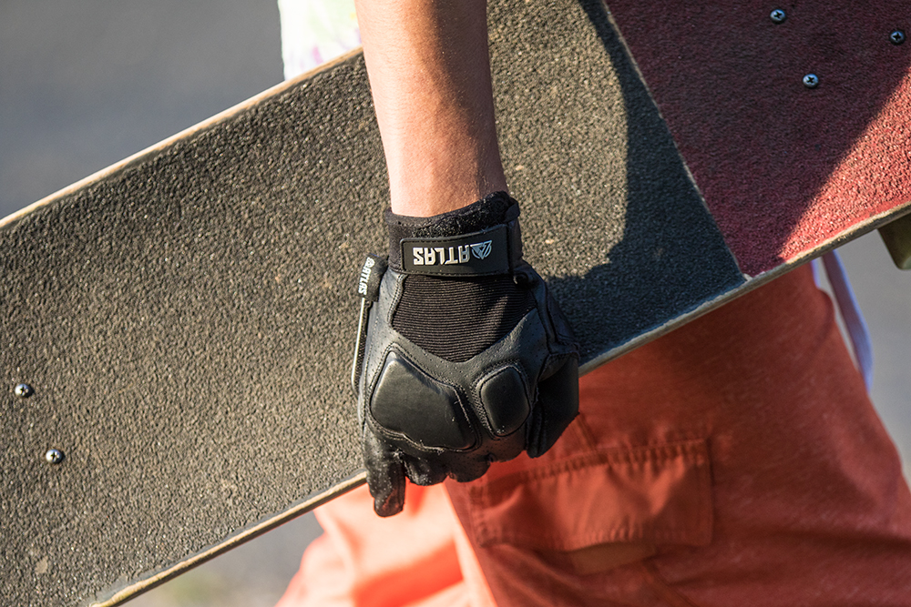 The best longboarding and skateboarding Slide Gloves ever created! The Atlas Trucks Slide Gloves! Touch enabled and perfect for every longboard session.