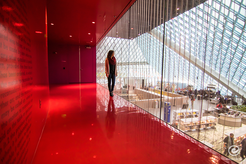 Exploring the Seattle Central Library on a Saturday afternoon. More photos at Equalmotion.com